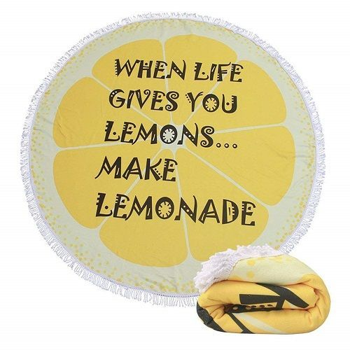 Birthday Gifts For Teenagers When Life Gives You Lemons Make Lemonade Summer Trends Beach Blanket