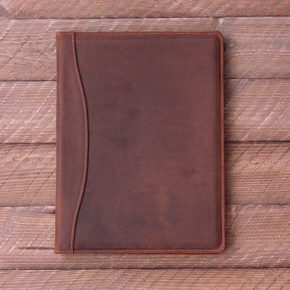 corporate gifts ideas   personalized leather padfolio monogrammed leather portfolio cover custom