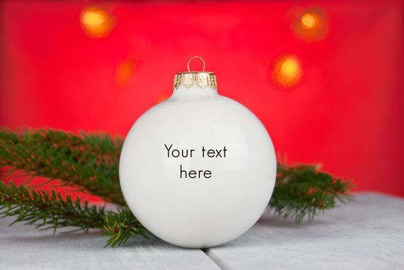 Personalized Christmas Ornament with Your Text, Corporate Gift, Personalised Chr...