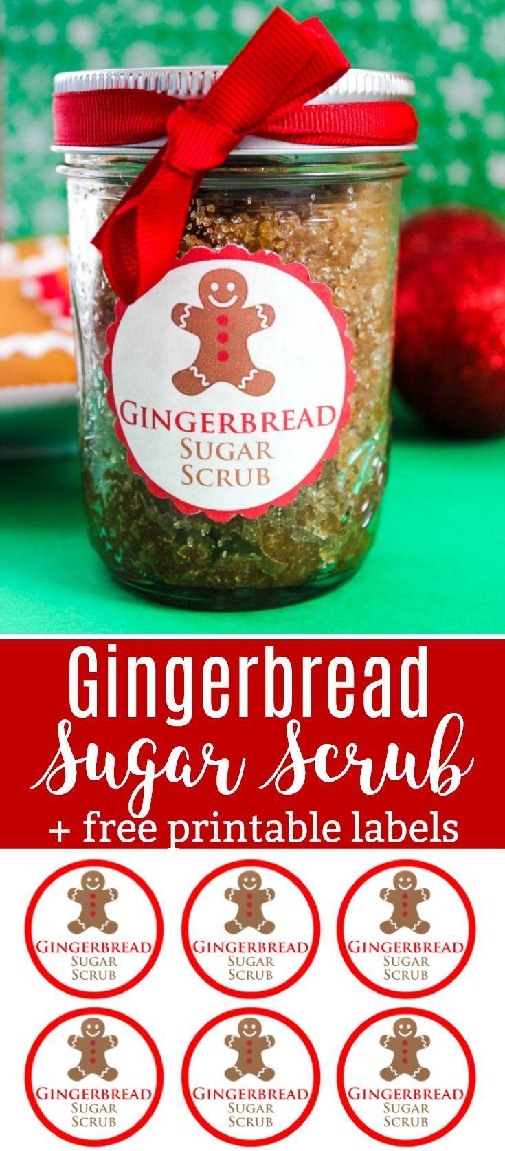 DIY Gifts : Gingerbread Sugar Scrub Recipe with Free ...