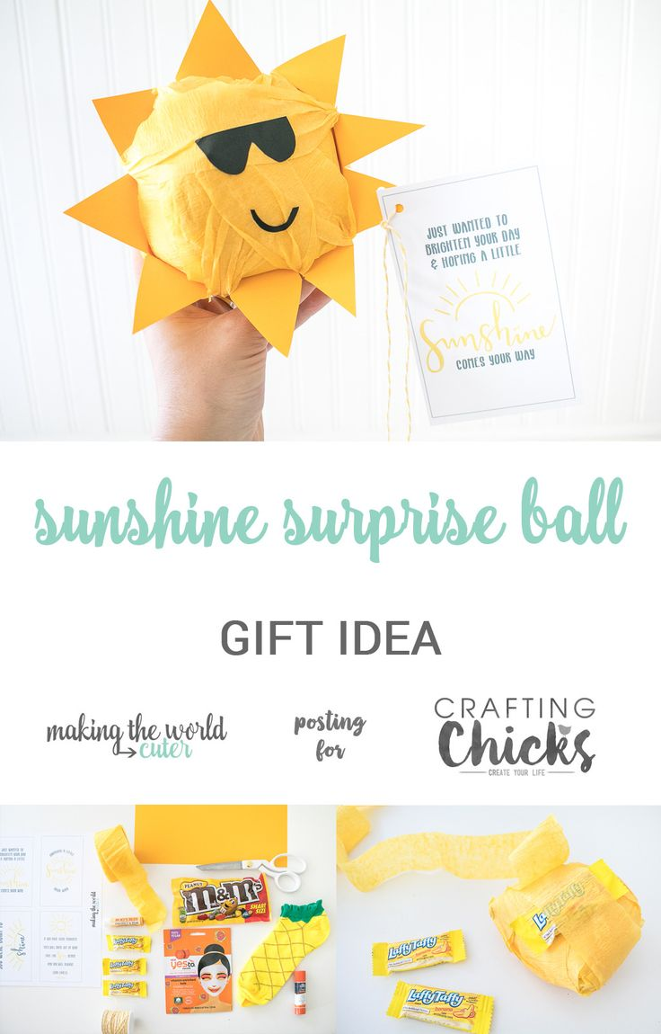 DIY Gifts Ideas : Sunshine Surprise Ball   Looking to make someone\'s ...