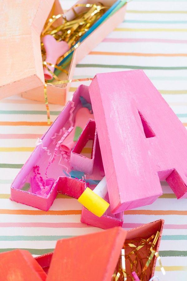 DIY Letter Shaped Boxes | studiodiy.com