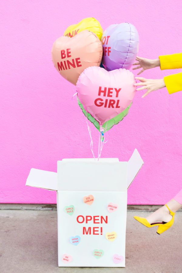 DIY Valentine Balloon Surprise Box | studiodiy.com