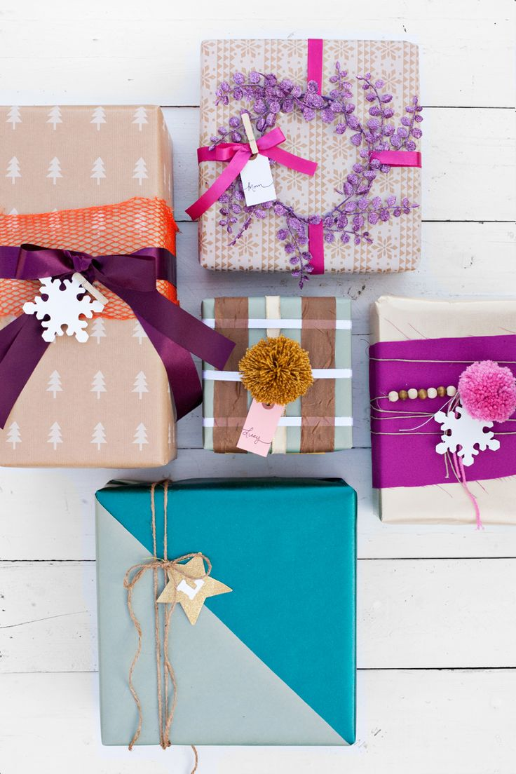 Creative ways to decorate gifts using scraps from your craft supplies