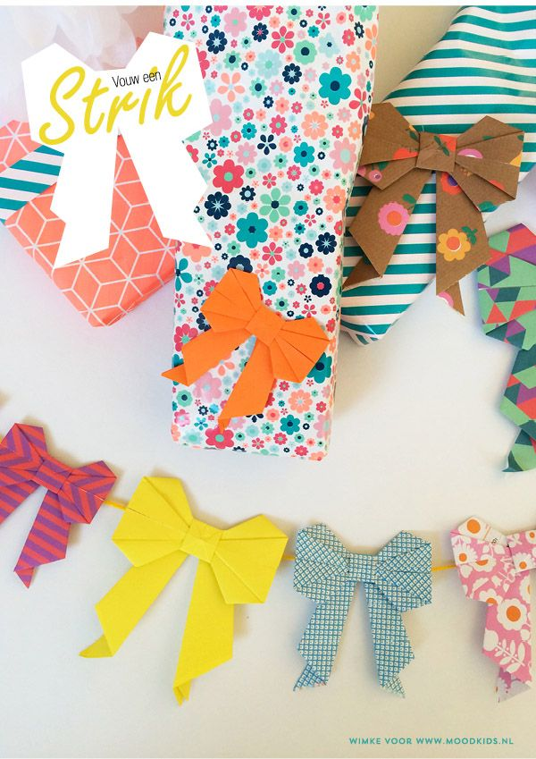 Gifts Wrapping Package Diy Paper Origami Bows Giftsdetective
