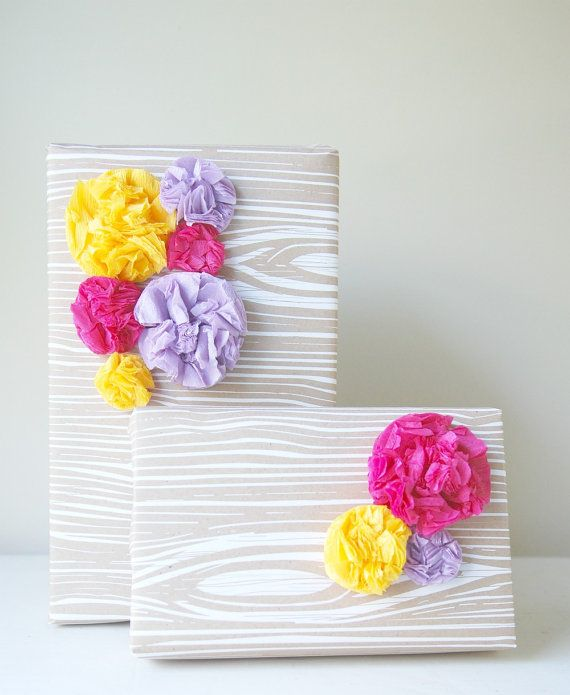 Gift Wrap Paper Pom Collection
