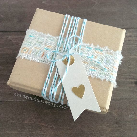 Hand torn ribbon is a great way to dress up simple gift wrapping. The pattern is...