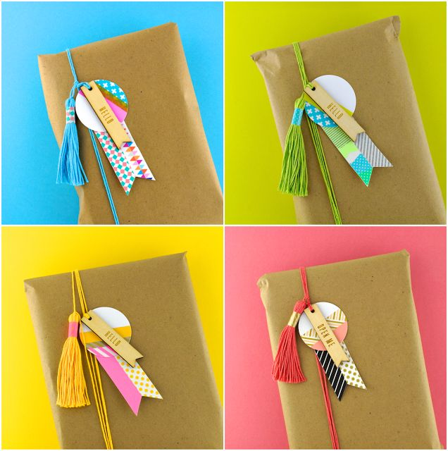 Layered gift tags (Omiyage)
