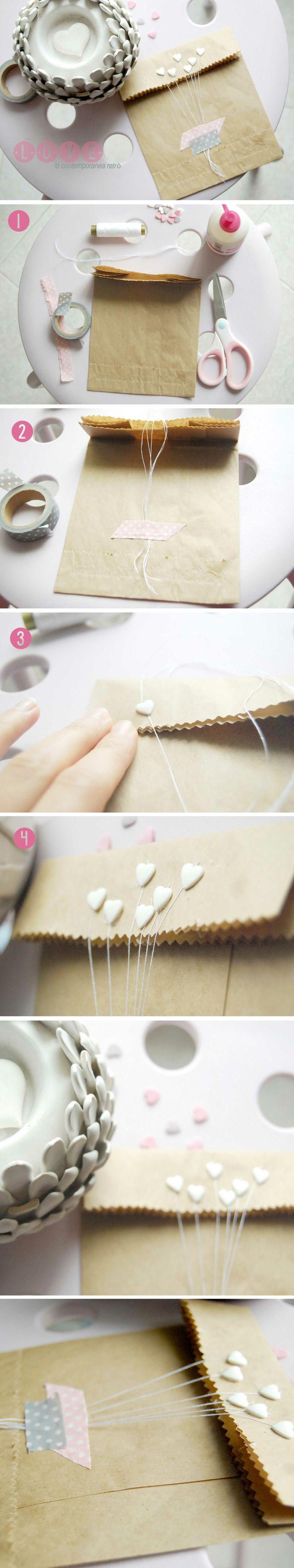 Un dolce e semplice DIY per creare delle originali buste di carta, adatte come p...