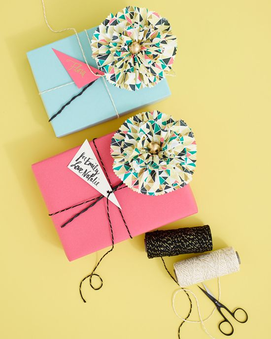 Gifts Wrapping Package Diy Paper Napkin Flowers