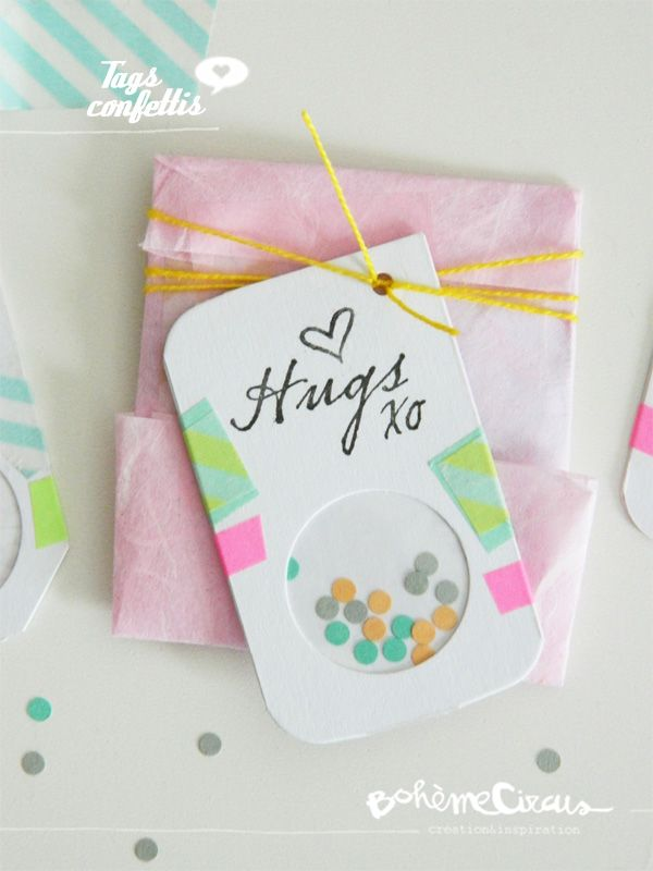 tags confettis | DIY