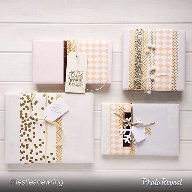 wrapping and wrapping with washi tape