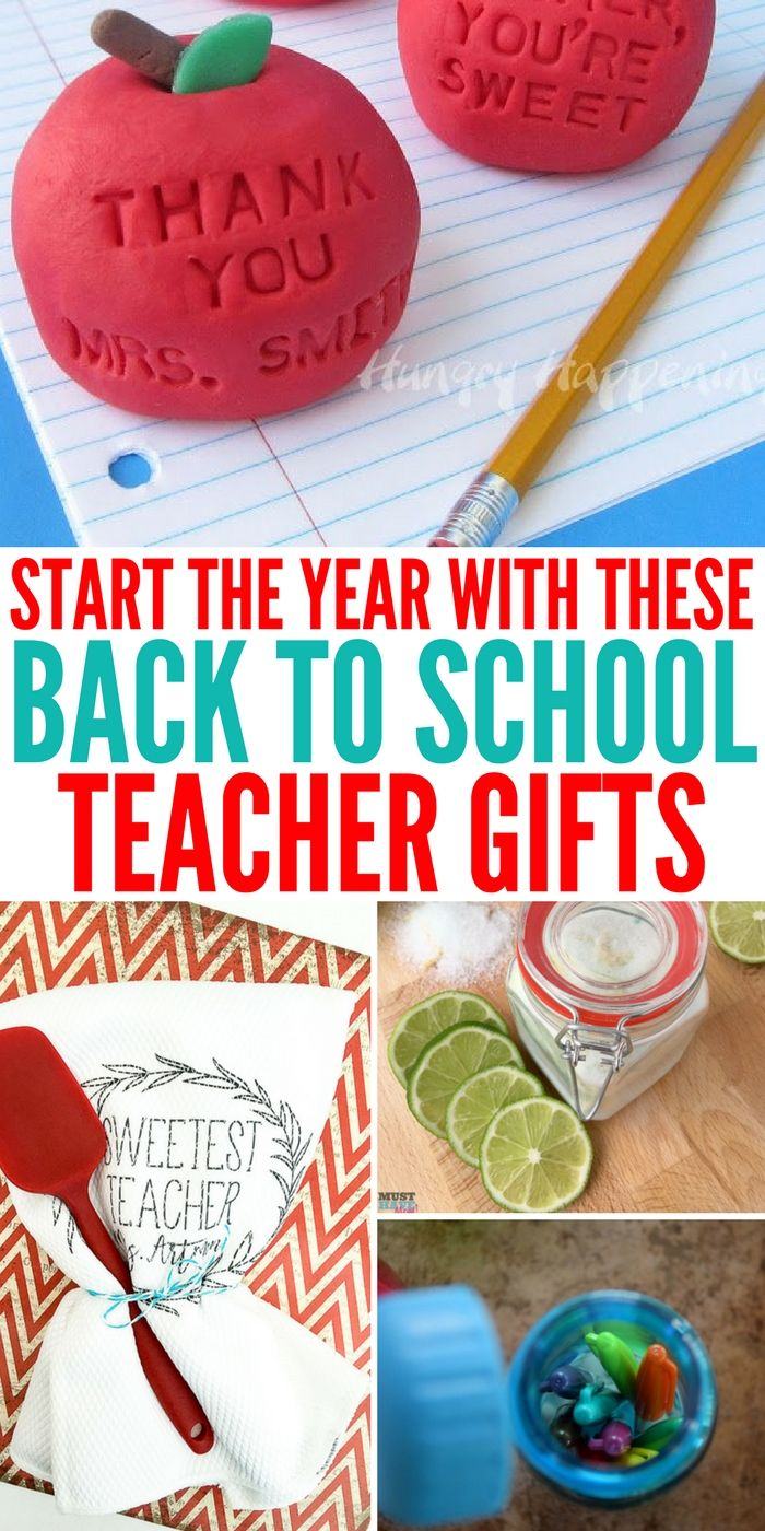 I have gathered a handful of DIY back to school teacher gifts with you all below...
