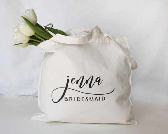 Bridesmaid Tote Bags, Bridesmaid Makeup Bags, Bridesmaid Canvas Bags | Bridal Pa...