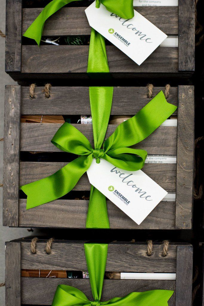 CORPORATE EVENT GIFT BOXES// Unisex Corporate Retreat Gift Crates, curated by Ma...