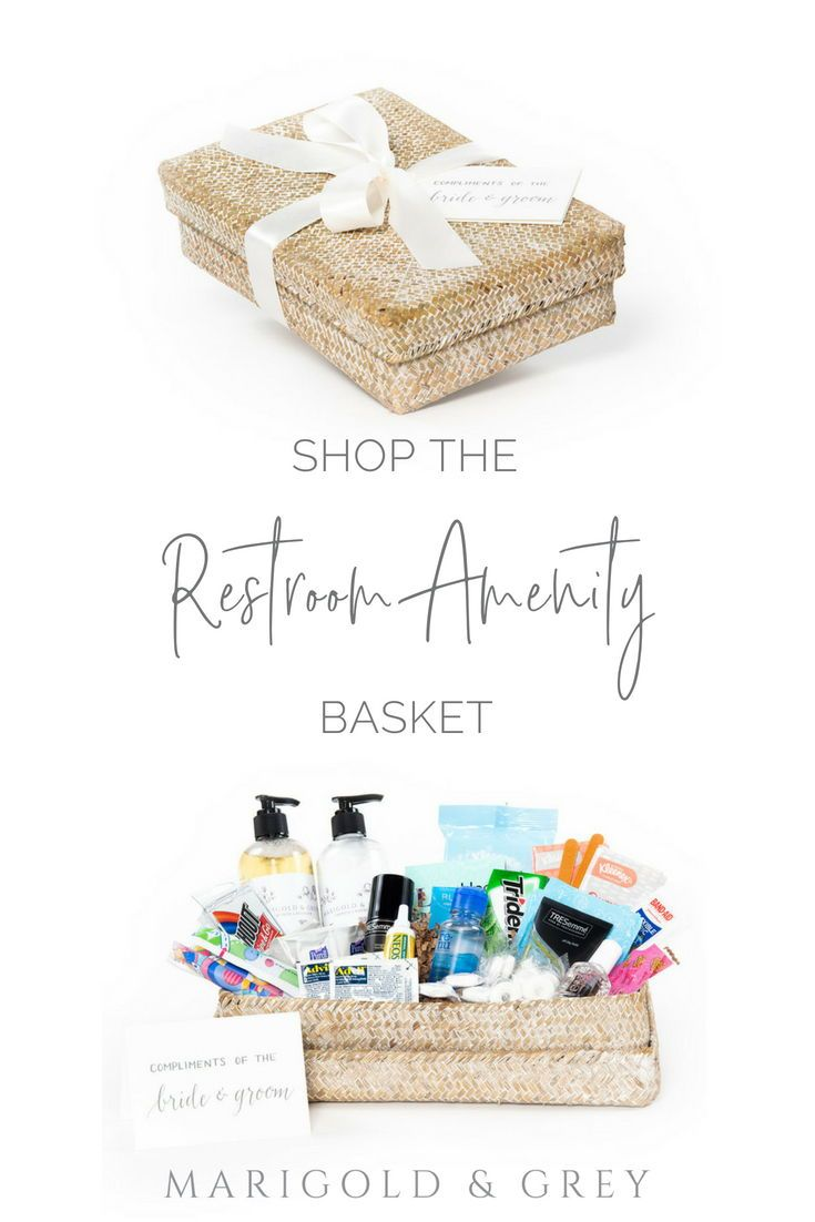 Luxury pre-designed ready to ship restroom amenity boxes make your guests feel a...