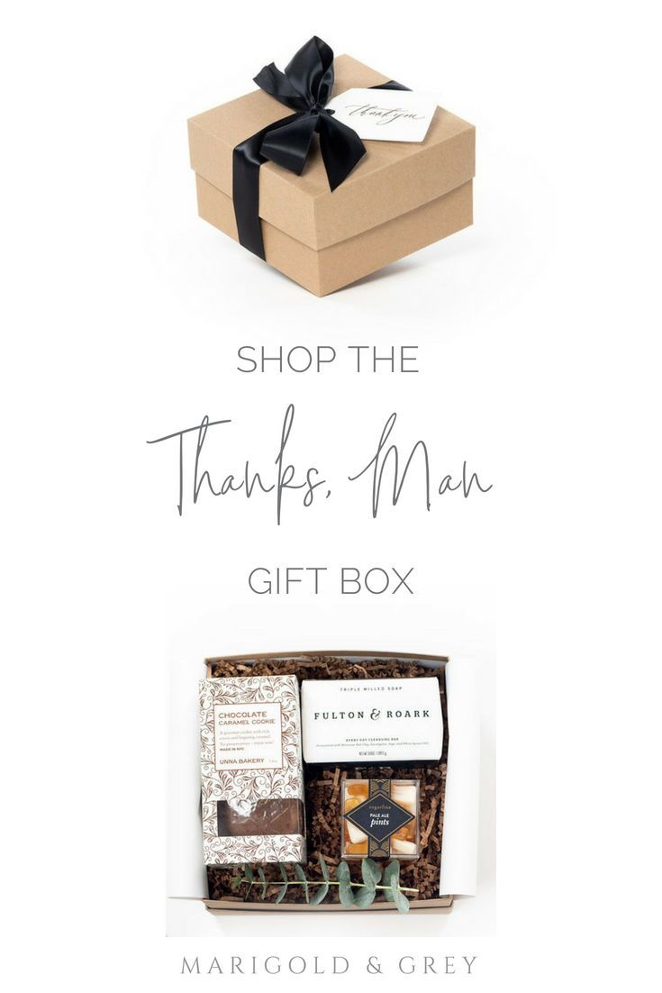 MASCULINE GIFT BOXES// Pre-designed gift boxes for men to say thank you, ready t...