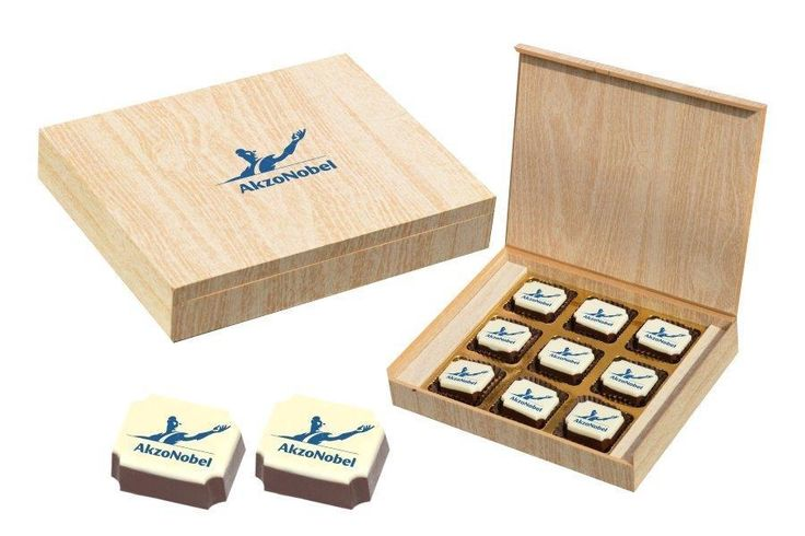 Corporate Gifts Online - 9 Chocolate Box - Printed Candies (10 Boxes)