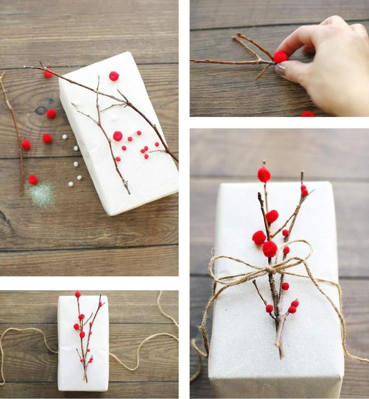 Gifts Wrapping & Package : Gift topper. Red mini moms on twig ...