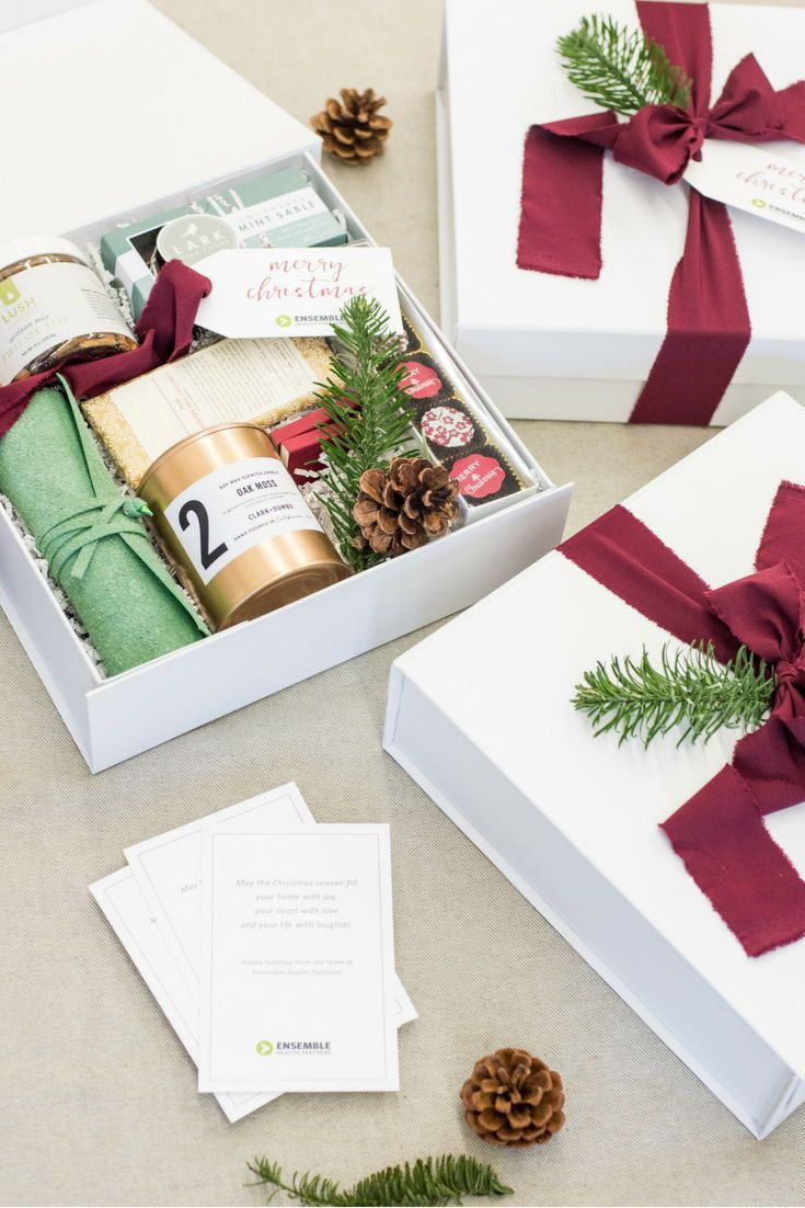 Best Corporate Gifts Ideas : HOLIDAY CLIENT GIFT BOXES// Red green ...