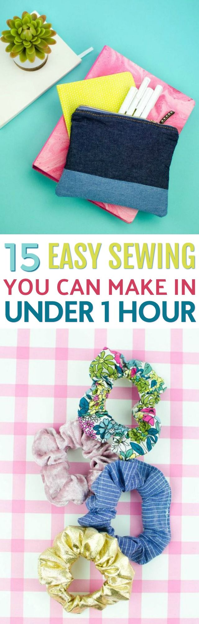 We want to share 15 of the Easiest Sewing Projects Ever with you! As a beginner,...