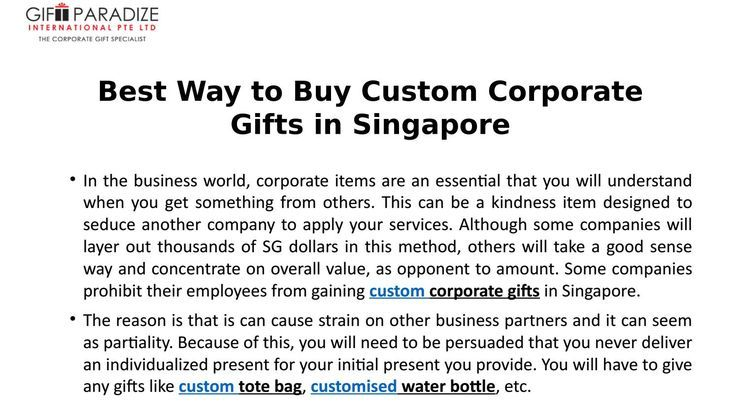 Corporate Gifts  : Best way to buy custom corporate gifts in singapore