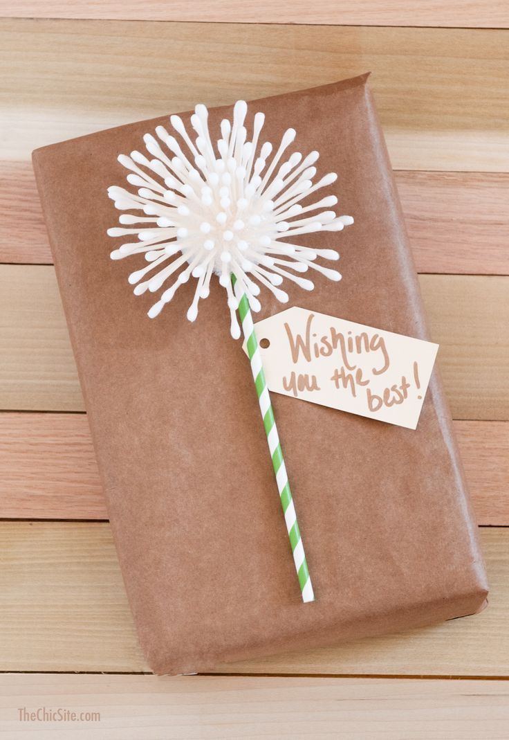 Gifts Wrapping Package Diy Dandelion Gift Wrap Cute Idea For