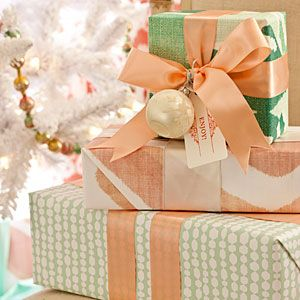 Forget Red & Green -Give your gifts decor-worthy style with patterned papers, wi...