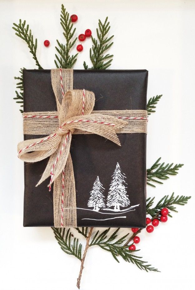 chalkboard wrapping paper, nyla free designs inc., Christmas 2013