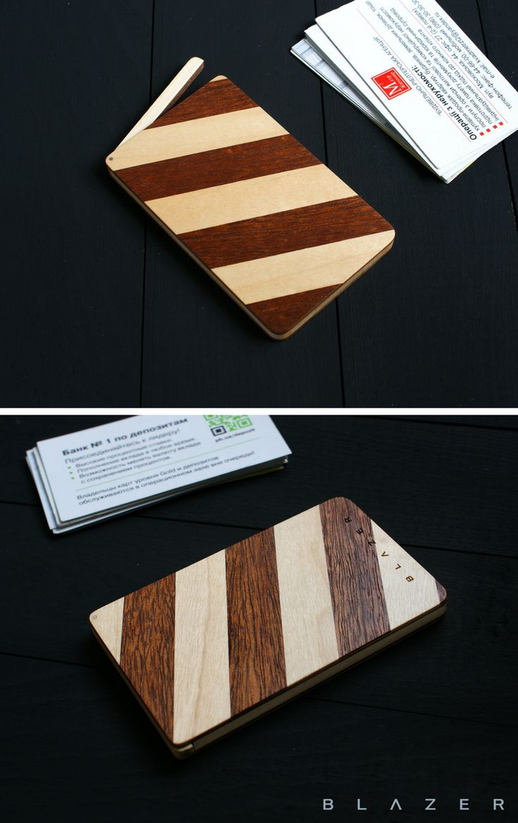 Mothers Day Gift Ideas Blazer Wooden Business Card Case For 15 20