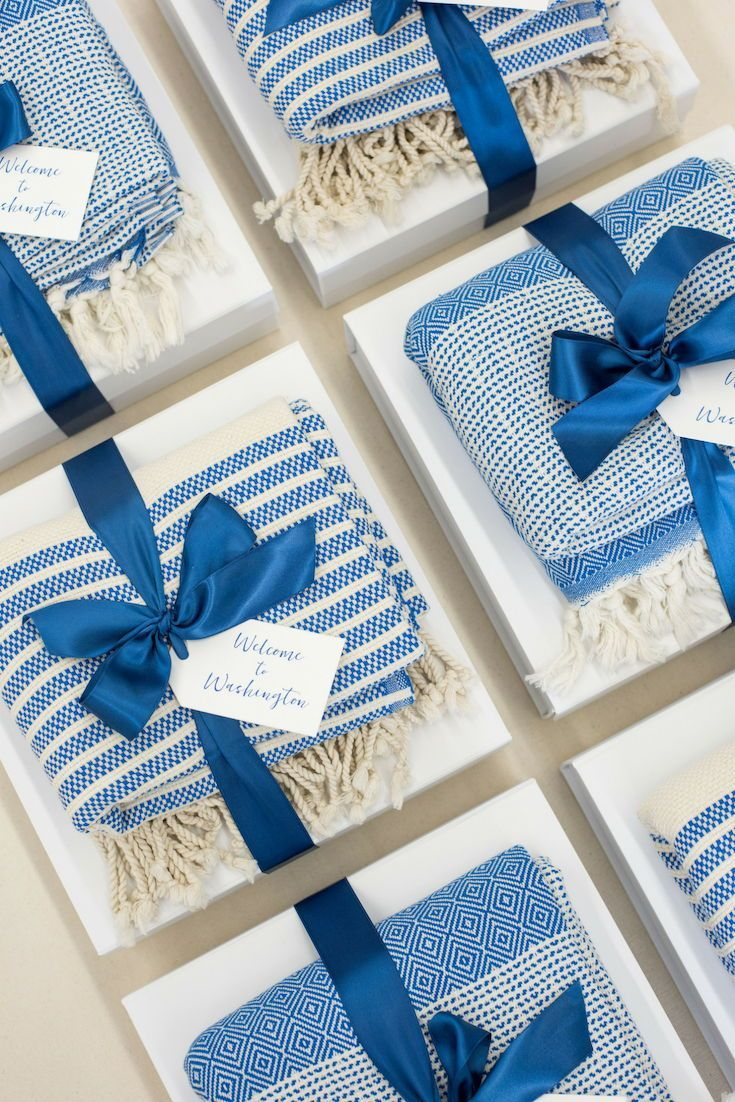 Best Corporate Gifts Ideas CORPORATE EVENT GIFTS// Blue and white DC theme corpo...