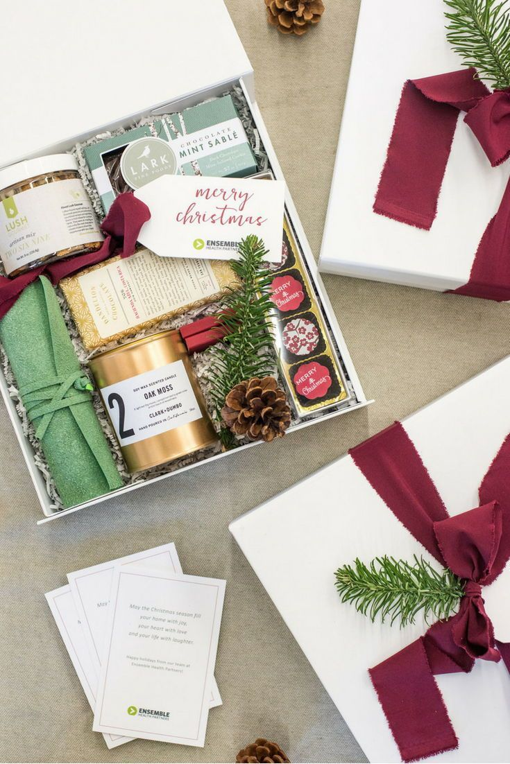 Best Corporate Gifts Ideas HOLIDAY CLIENT GIFT BOX// Healthcare consulting compa...