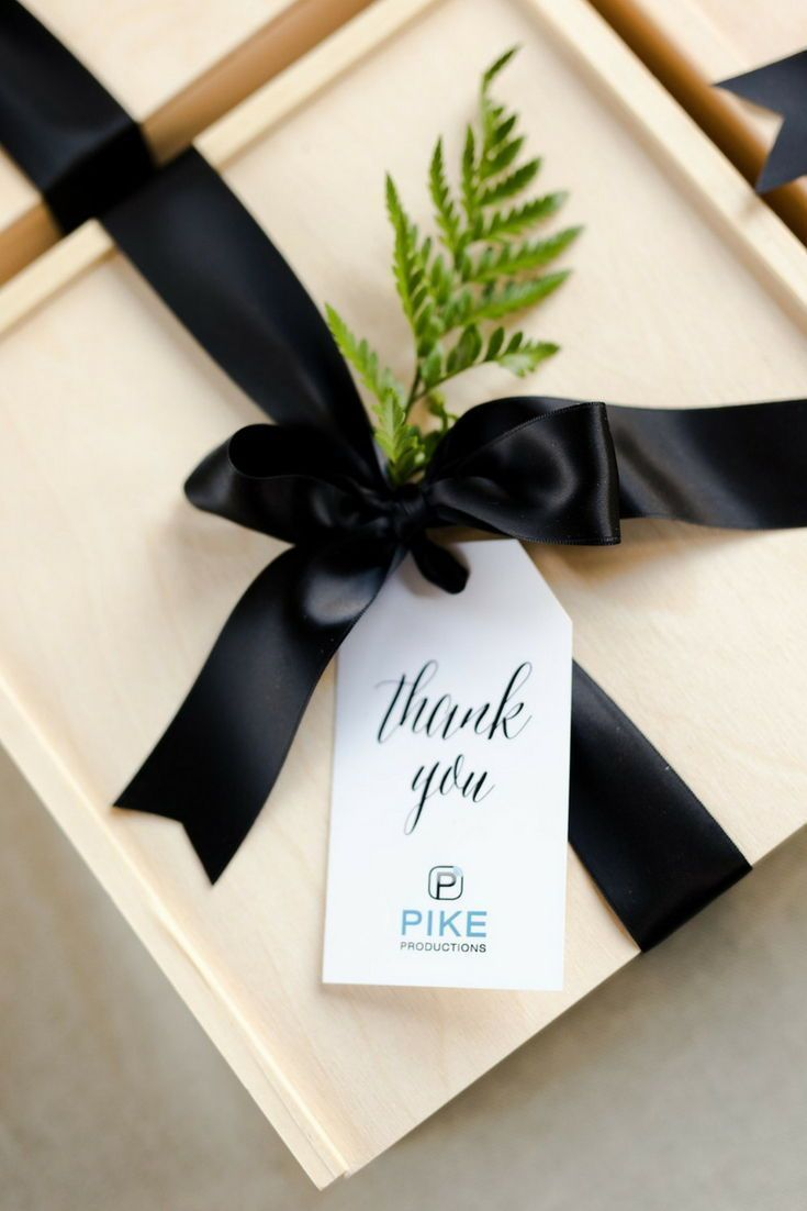CLIENT GIFT BOXES// D.C. inspired black and cream unisex client thank you gift b...
