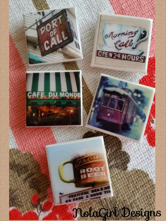 Corporate Gifts Ideas New Orleans Magnets Set Of 5 Large Tile