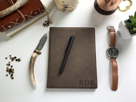 Personalized Leather Journal, Corporate Gift, Husband Gift, Boyfriend Gift, Mono...