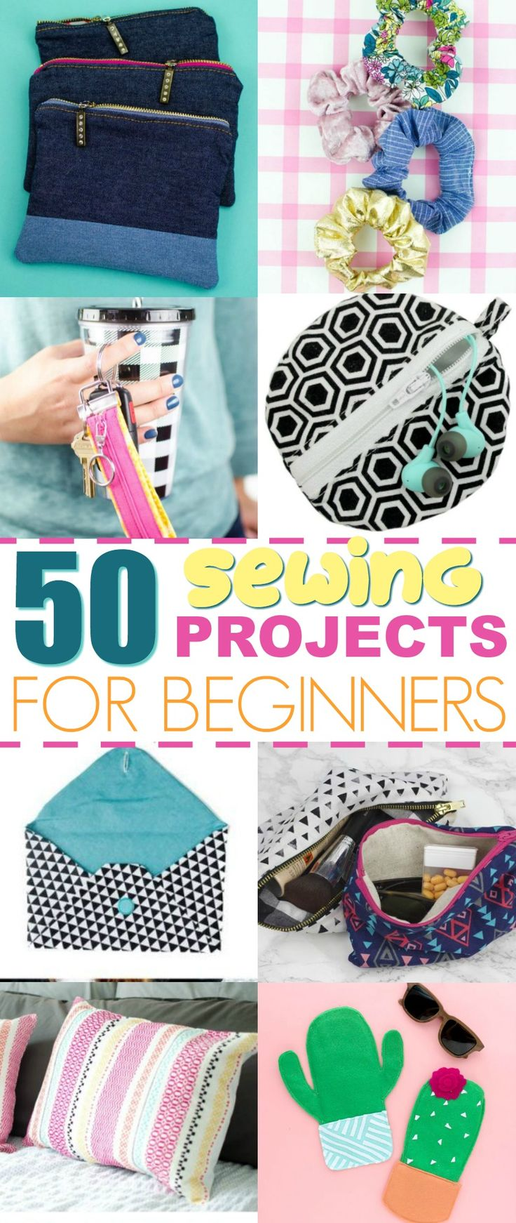 You'll love how cute and easy these sewing projects are to whip up! So many br...