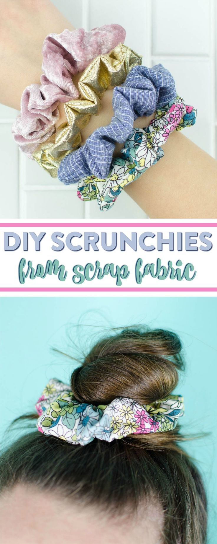 I am so excited to share today's easy sewing project with you.  SCRUNCHIES ARE...