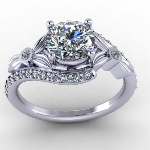 A Museum Perfect 2.29CT Round Cut Russian Lab Diamond Ring