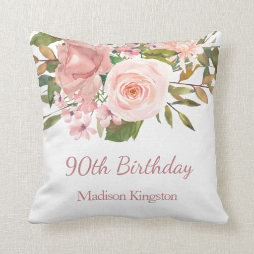 Birthday Gifts Ideas Pink Rose Gold Flowers 90th Party