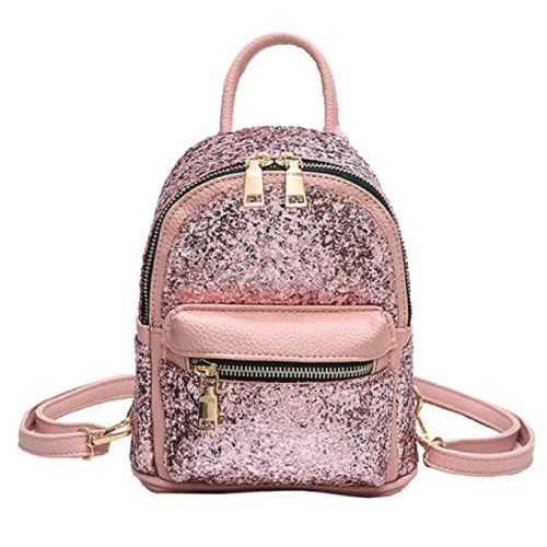 Cute Christmas gift ideas for tweens- sparkly pink mini backpack #fashion #teens
