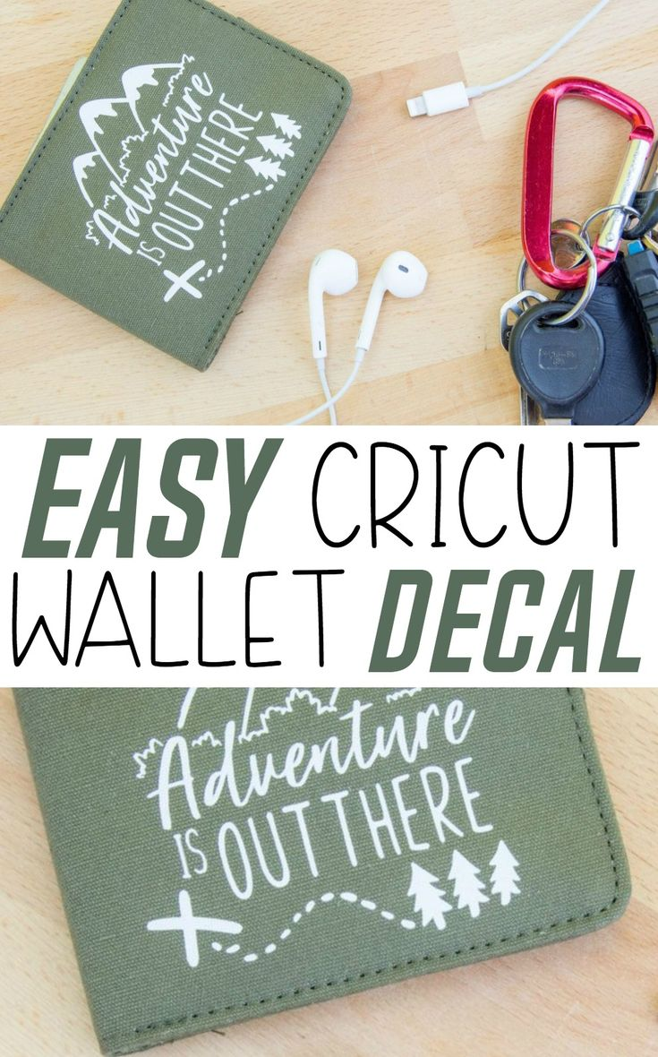 I want to show you this Easy Cricut Wallet Decal and how many ways you can use i...