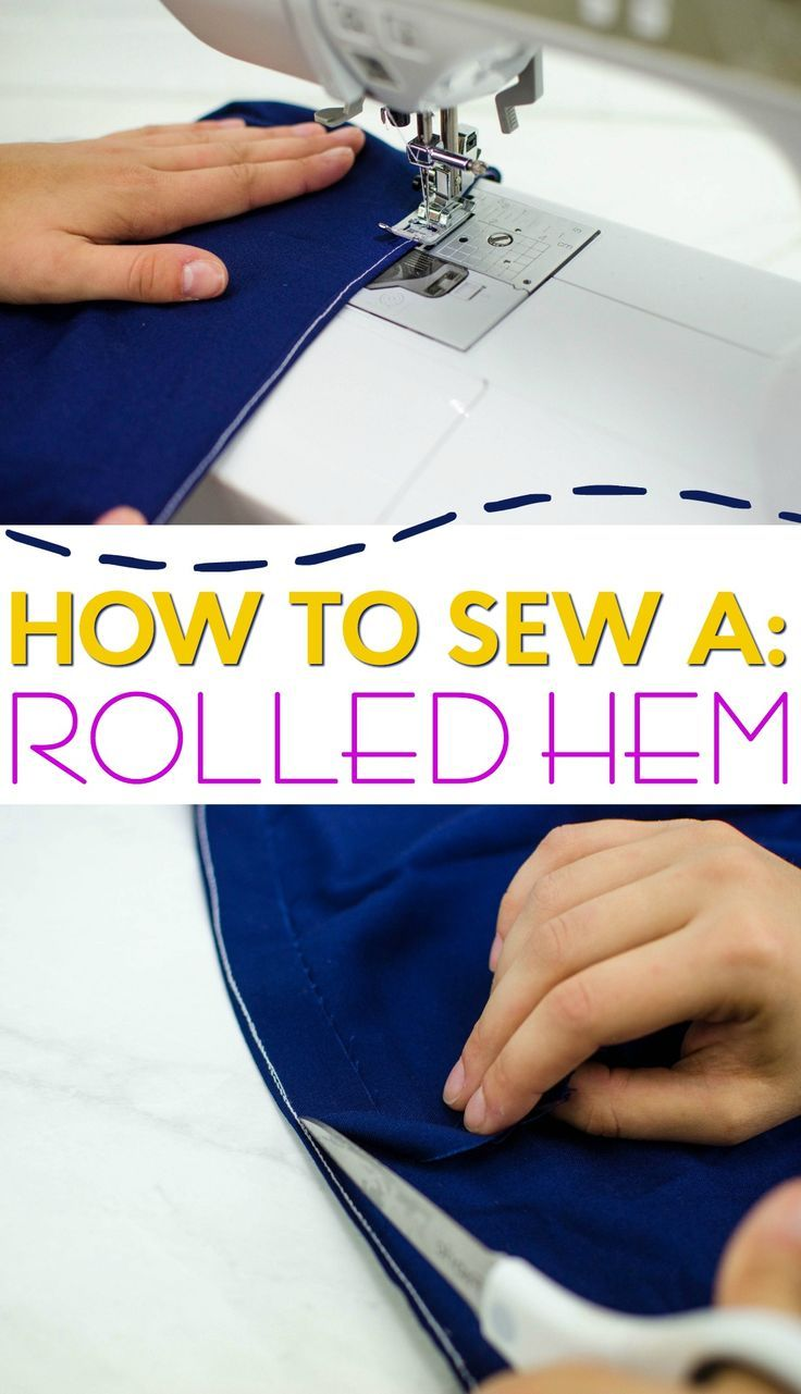 Rolled hems are elegant and professional looking. When you are working with thi...