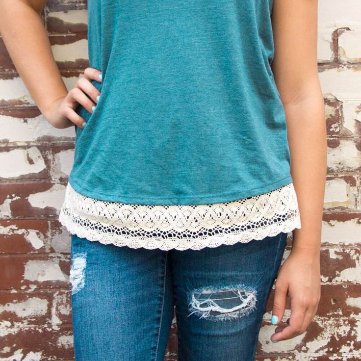 oday I'll be showing you how to make your very ownDIY Lace Trim Shirt. It ca...