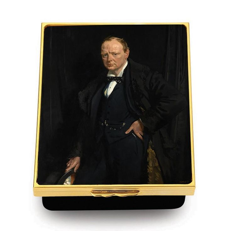 3 Inch Custom Enamel Box | Churchill Bespoke Enamel Box | Custom Art Award | Cor...