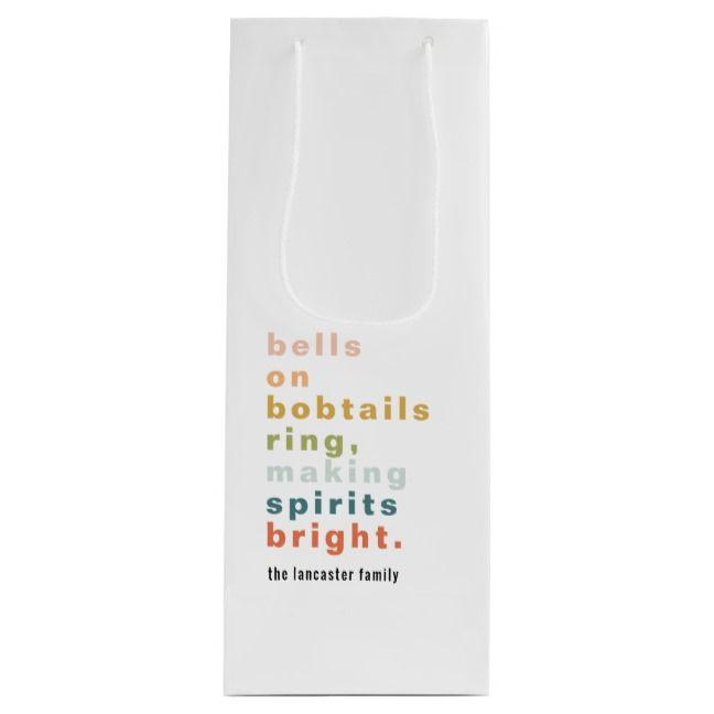Bells on Bobtails Wine Gift Bag