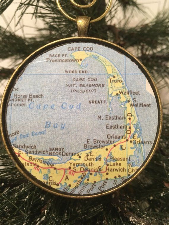 Check out Cape Cod Christmas Ornament,  Keep a memory Alive / HONEYMOON Gift / W...