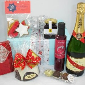 Christmas Corporate Gift ideas.  Gift Box includes;  Mumm Champagne, Christmas C...