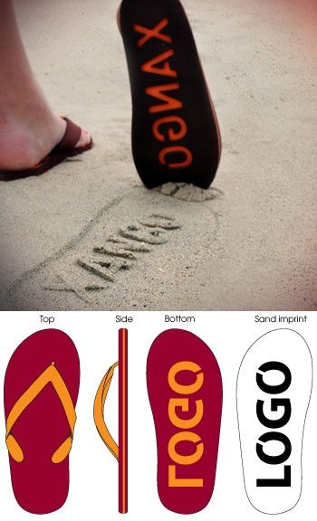 New twist on those promotional flip flops. Just be sure to hand them out on the ...