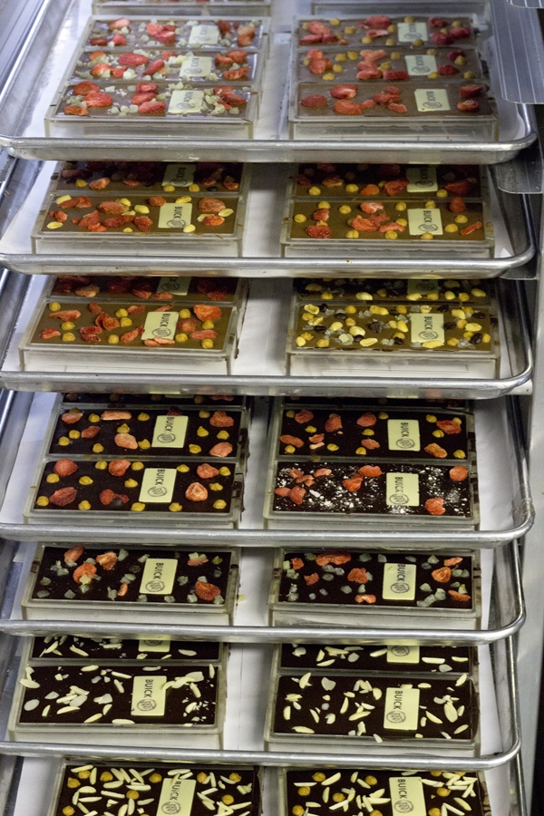 The Buick chocolate bars in the fridge hardening after each one has been customi...