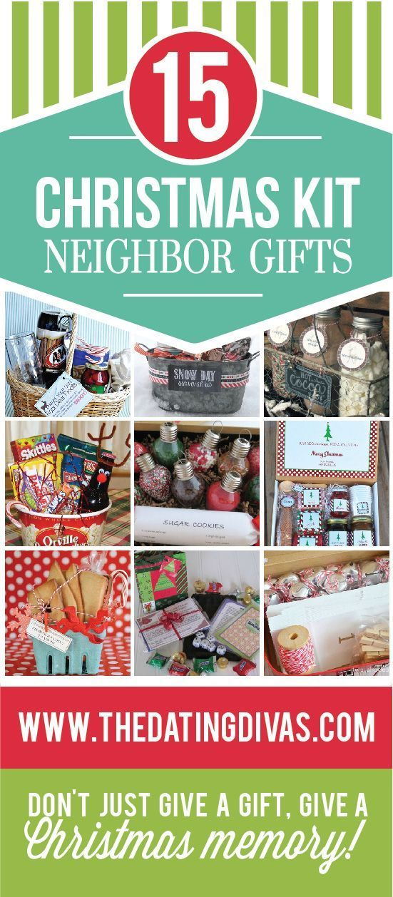 Darling, unique Christmas neighbor gifts.  Instead of giving the usual plate of ...